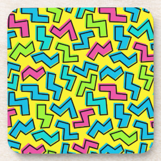 80's/90's Retro Neon Pattern Coaster