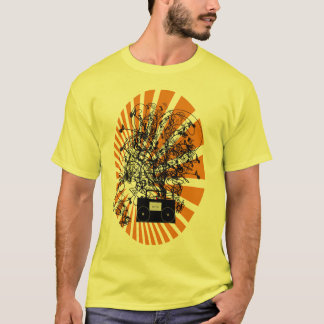 80s Boom Box Orange T-Shirt