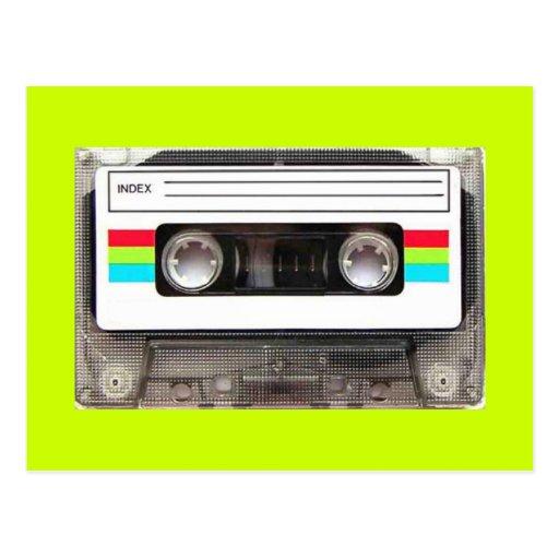 80s casette tape postcards