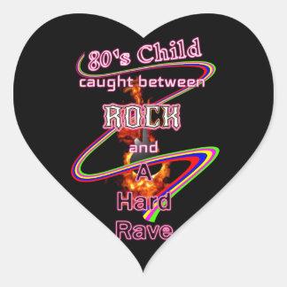 80's Child Rocker or Raver eighties music lover Heart Sticker