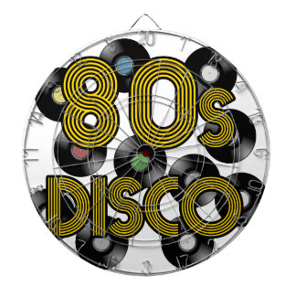 80s disco vinyl records dartboard