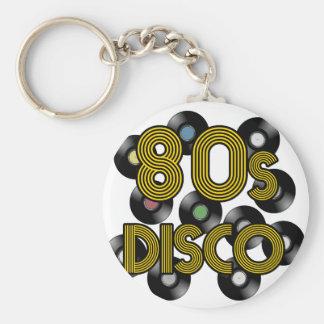 80s disco vinyl records keychain