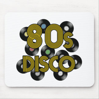 80s disco vinyl records mouse pad