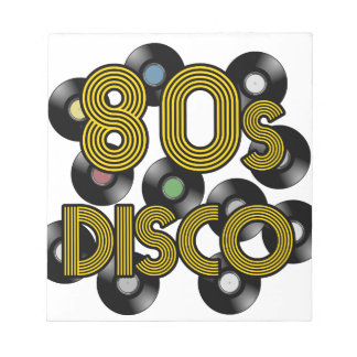 80s disco vinyl records notepad