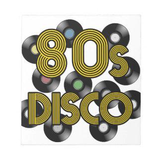 80s disco vinyl records notepad