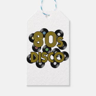 80s disco vinyl records pack of gift tags