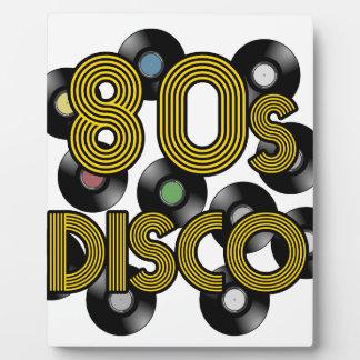 80s disco vinyl records plaque
