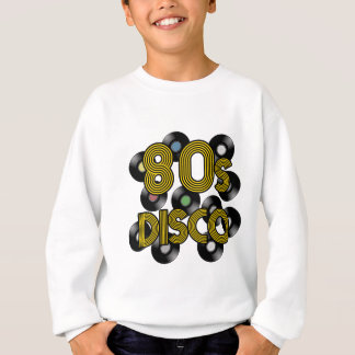 80s disco vinyl records sweatshirt