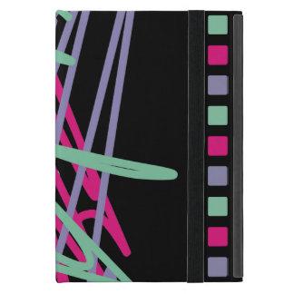 80s eighties vintage colors splash medley art girl covers for iPad mini