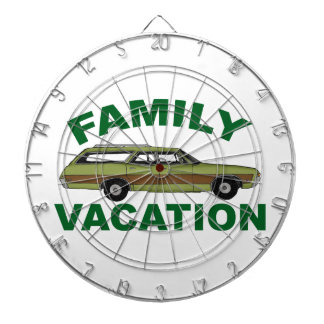 80s Family Vacation Dartboard