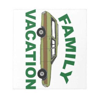 80s Family Vacation Notepad