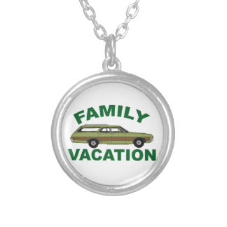 80s Family Vacation Silver Plated Necklace