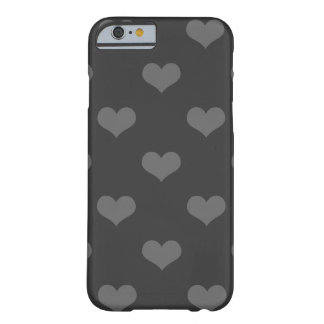 80s flannel gray hearts emo girly goth pattern barely there iPhone 6 case