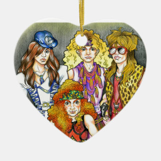 80s Hairband - 80s Retro Ceramic Heart Ornament