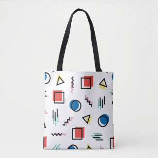 80's Memphis Abstract Style Tote Bag
