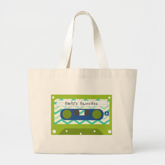80's Mix Cassette Tape Personalized Tote Bag