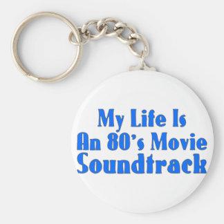 80's Movie Soundtrack Basic Round Button Keychain
