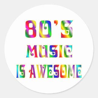 80s Music Classic Round Sticker