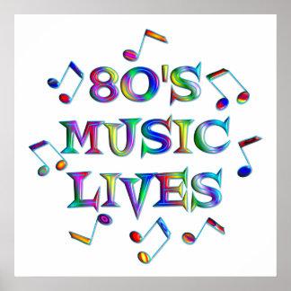 80s Music Lives Poster