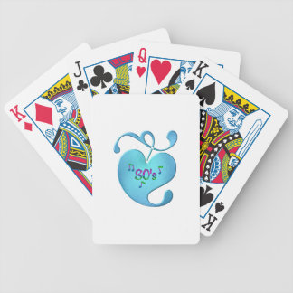 80s Music Love Bicycle Playing Cards