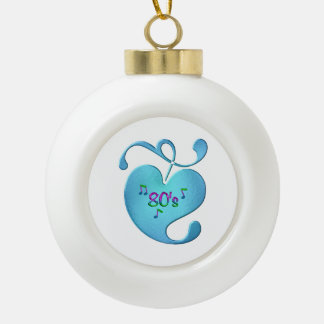 80s Music Love Ceramic Ball Christmas Ornament