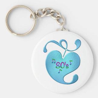 80s Music Love Keychain