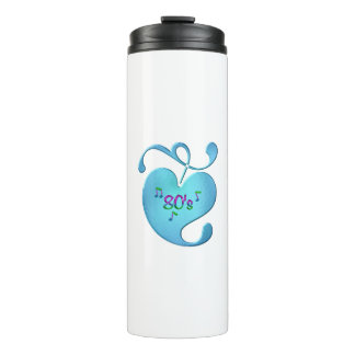 80s Music Love Thermal Tumbler