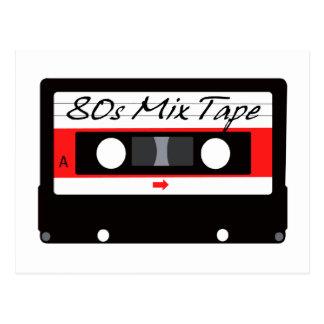 80s Music Mix Tape Cassette Postcard