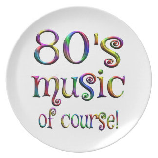 80s Music of Couse Plate