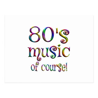 80s Music of Couse Postcard
