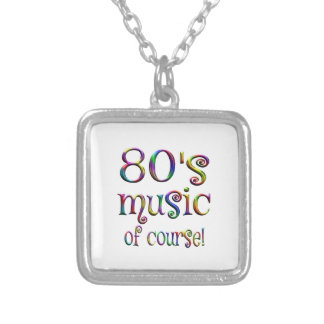 80s Music of Couse Silver Plated Necklace