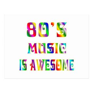 80s Music Postcard
