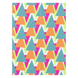 80's Neon Geometric Pattern Tablecloth