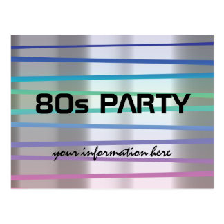 80s or 90s theme party or reunion postcard