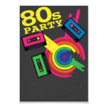 80s party 3.5x5 paper invitation card