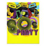 80s Party 4.25x5.5 Paper Invitation Card