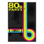 "80s party 5"" x 7"" invitation card"
