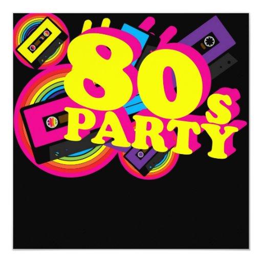 80s Party Announcements