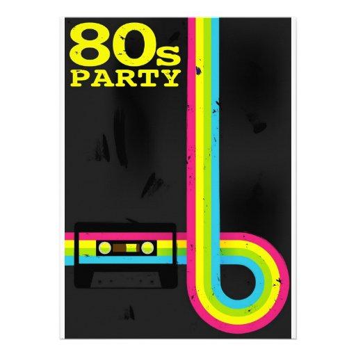 80s party invitation
