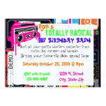 80s party invitation part duex