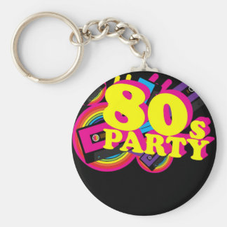 80s Party Key Chains