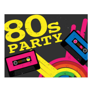 80s party post cards