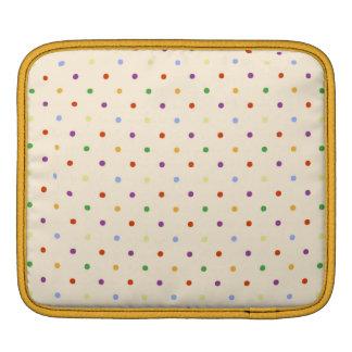 80s petite rainbow girly cute polka dots pattern iPad sleeve