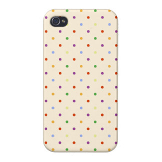 80s petite rainbow girly cute polka dots pattern iPhone 4/4S cover