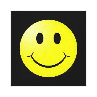 80s Pop Culture Yellow Smiley Emoticon Canvas Prints