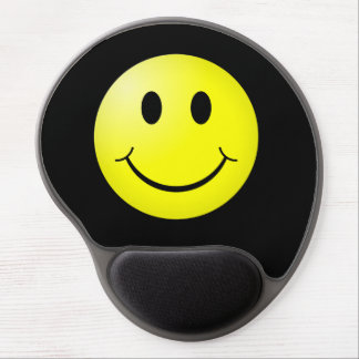 80s Pop Culture Yellow Smiley Emoticon Gel Mouse Pad