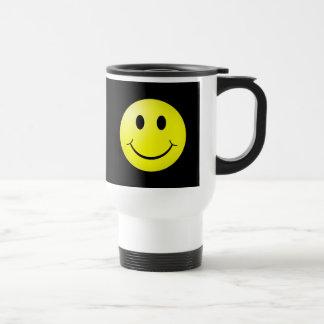 80s Pop Culture Yellow Smiley Emoticon Mugs