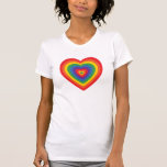 80's Rainbow Heart (concentric) T-Shirt