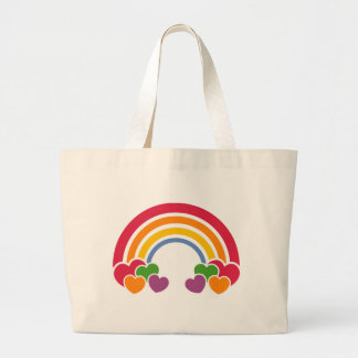 80's Rainbow & Hearts Bag