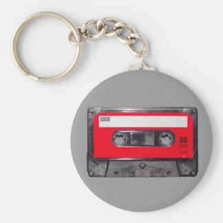 80's Red Label Cassette Key Chain